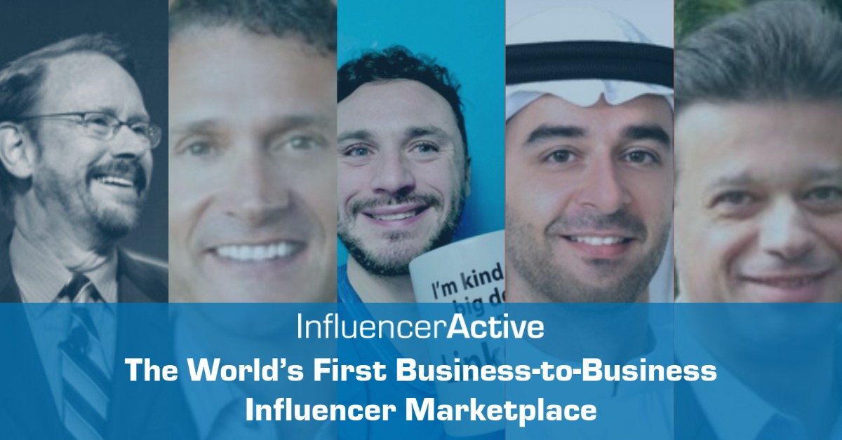 InfluencerActive Launches the World's First Business-to-Business Influencer Marketplace